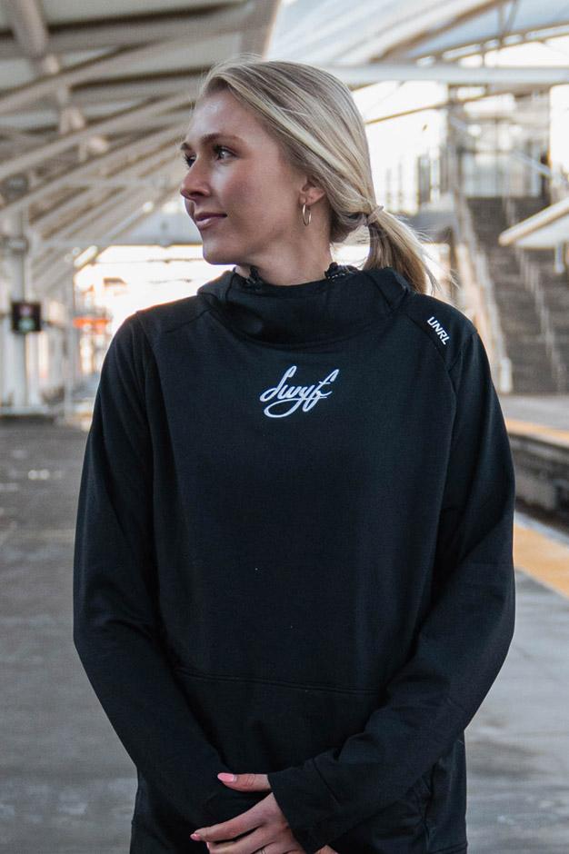 SWYFT hoodie model